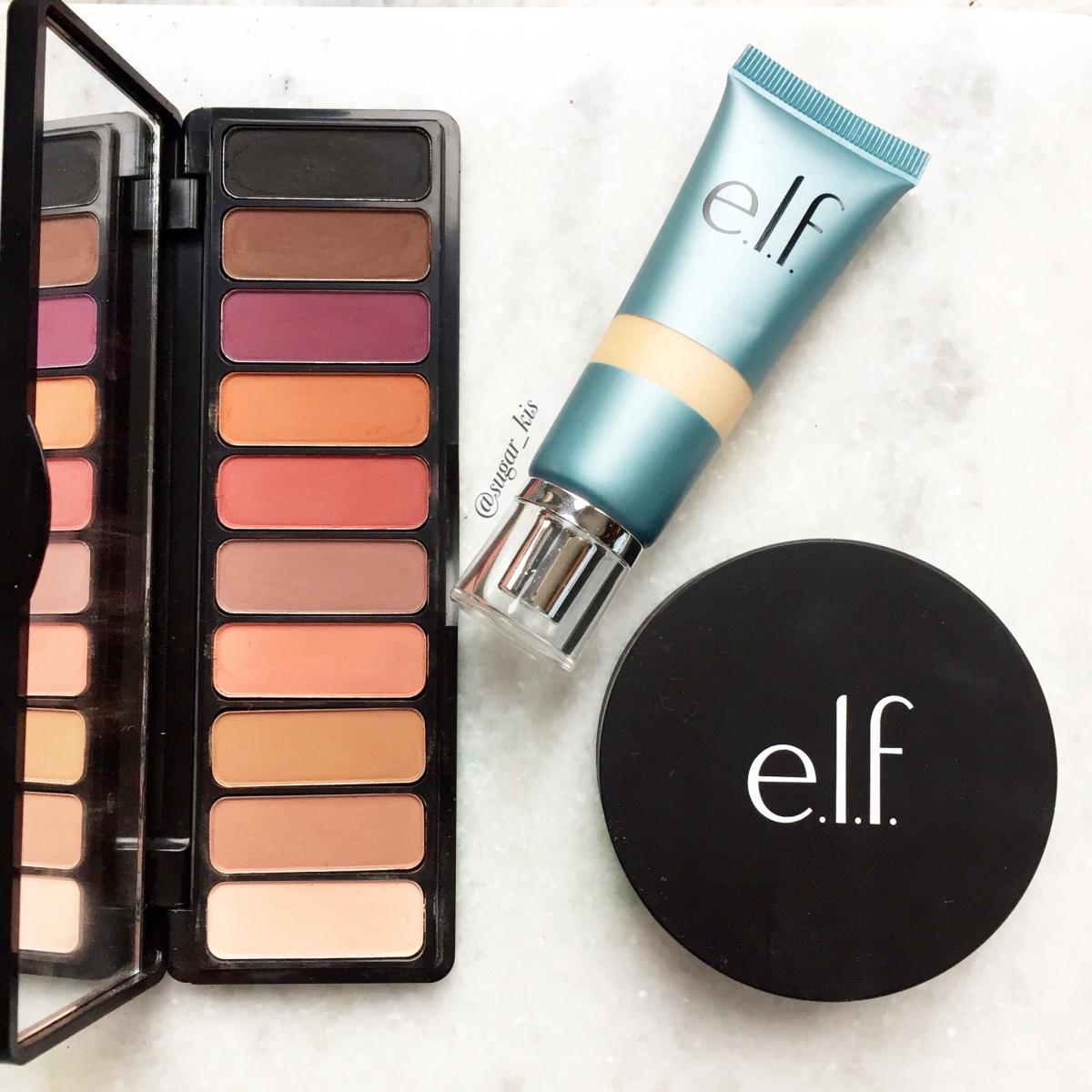 New ELF Makeup Review: Mad for Matte 2, Aqua Foundation, and HD Highlighting Powder.