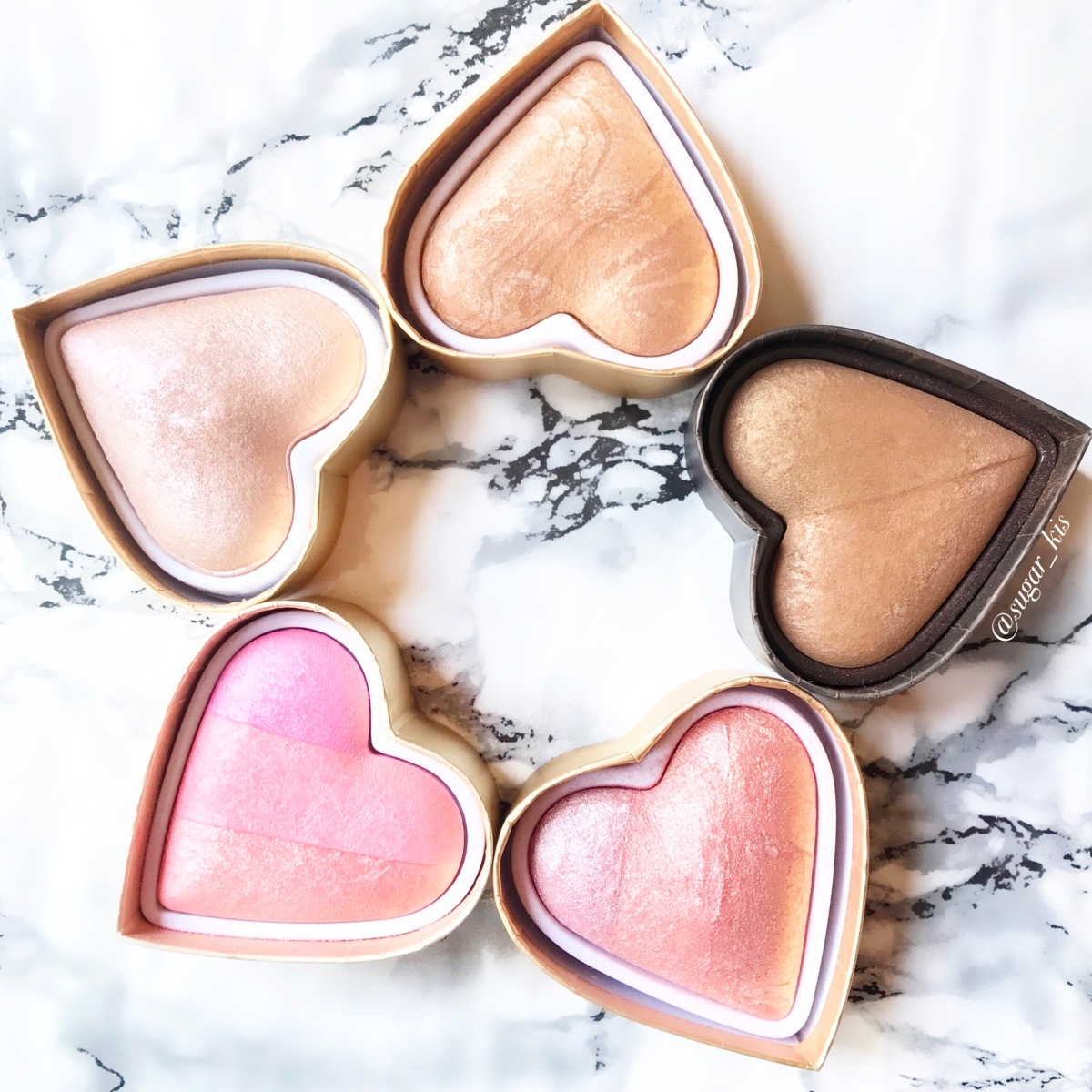 Make Revolution vs Too Faced: Blushing Hearts and Sweethearts Review